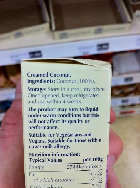 BD Creamed Coconut